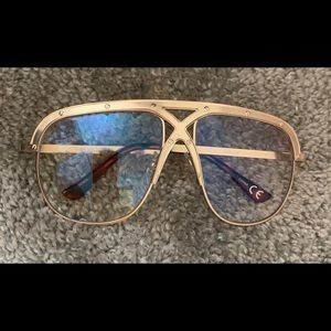 Accessories - Clear and gold glasses